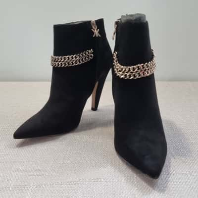 *REDUCED* Kardashian Collection Black Ankle Boots - 7.5