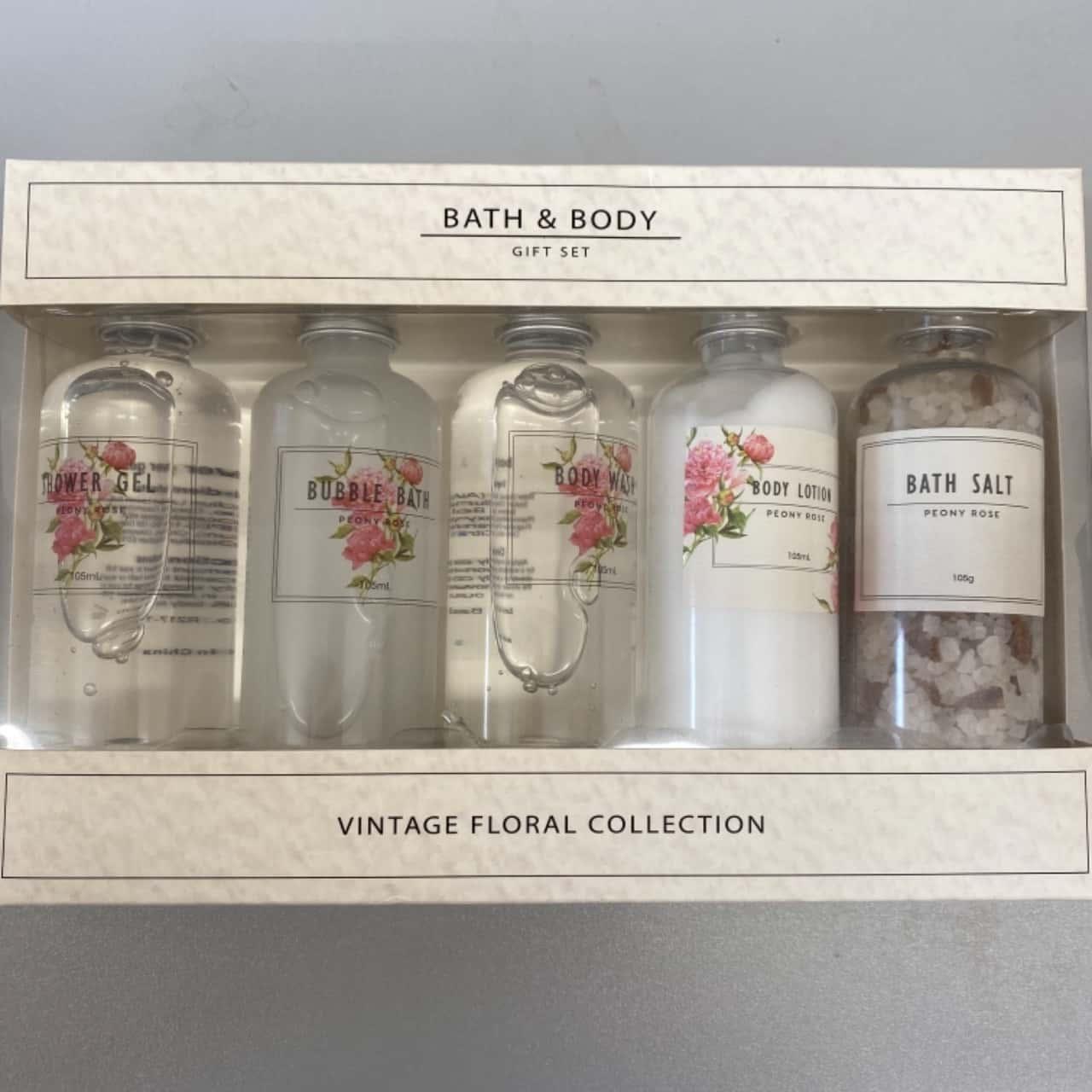 Bath & Body Women's Vintage Floral Bath & Shower Collection Pink /White