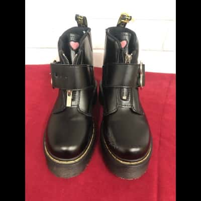 Other Dr Martens Girls Kids  Size 34 Shoes Black  High Top Boots