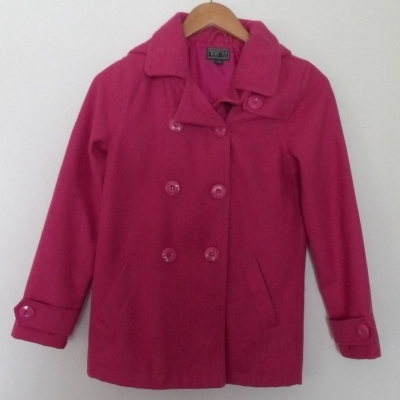 ROOTS KIDS HOODED WINTER JACKET   Size XL Jackets Bold Pink  WOOL MIX