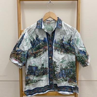 Mens  Size 14 Short Sleeve Multicoloured Shirt