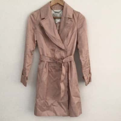 Womens  FOREVER NEW TRENCH COAT Size 6 DUSTY PINK