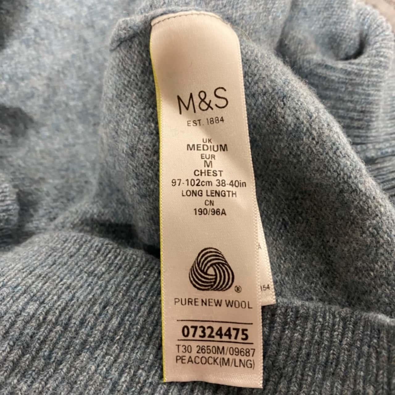 Marks & Spencer Womens  Size M Lambwool Jumpers Blue