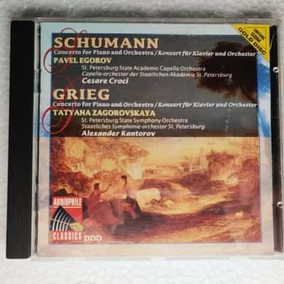 Schumann/Grieg Concerto for Piano & Orchestra Audiophile Quality CD