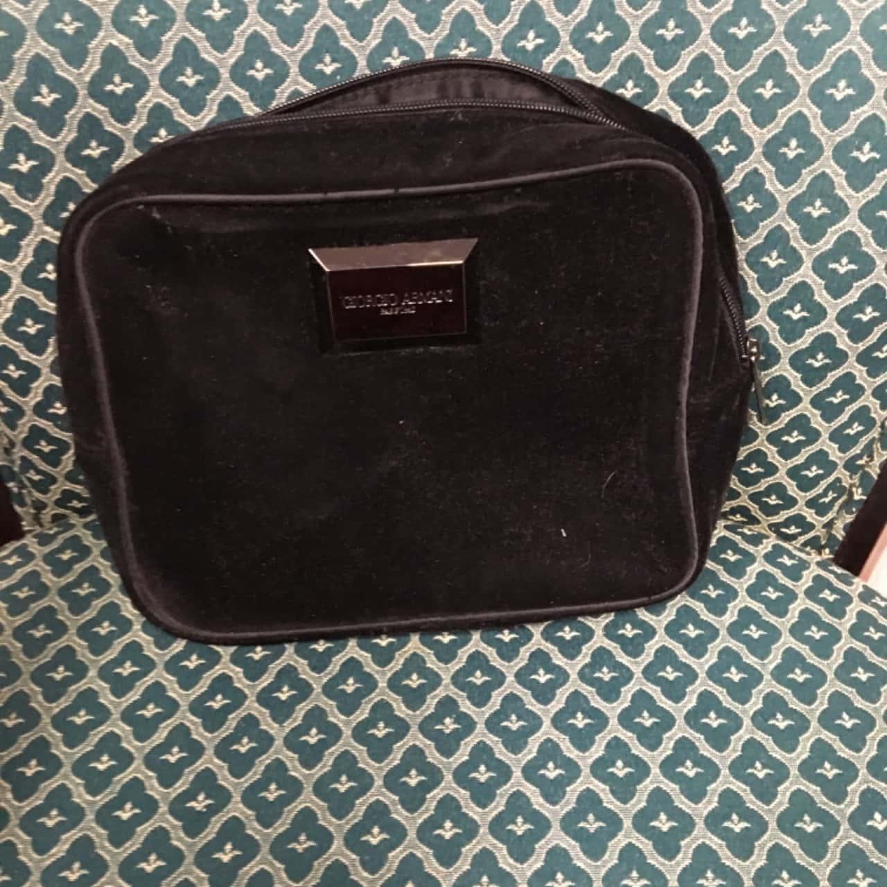 'Giorgio Armani' Black Makeup Bag