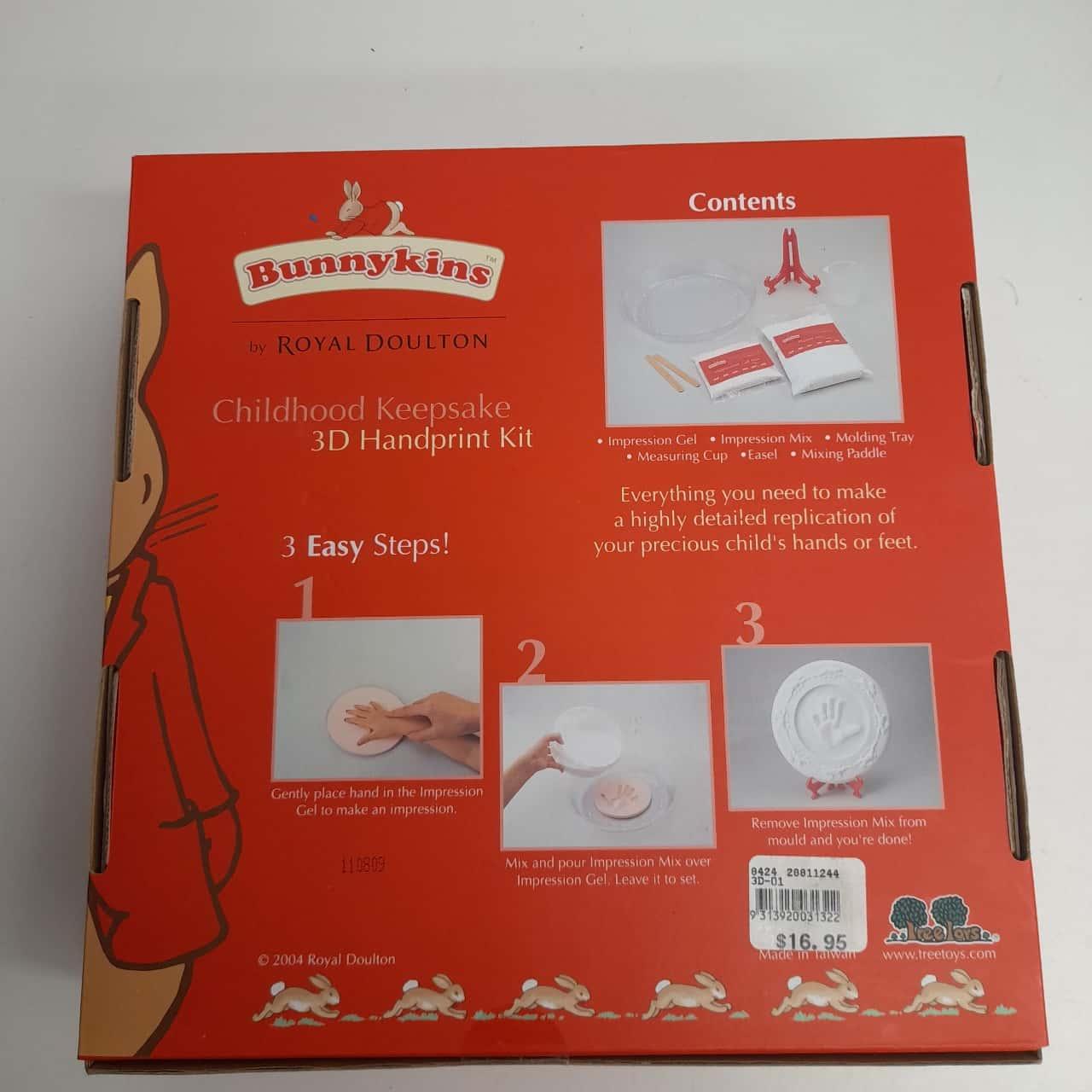 Bunnykins by Royal Doulton 3D Handprint Kit