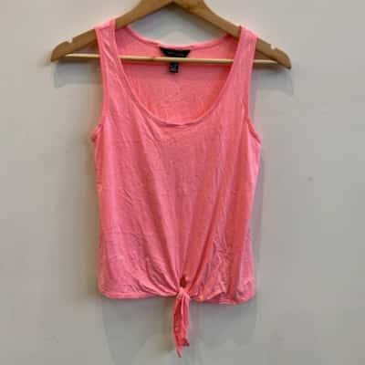 New Look Womens Pink Tank Top Size 8