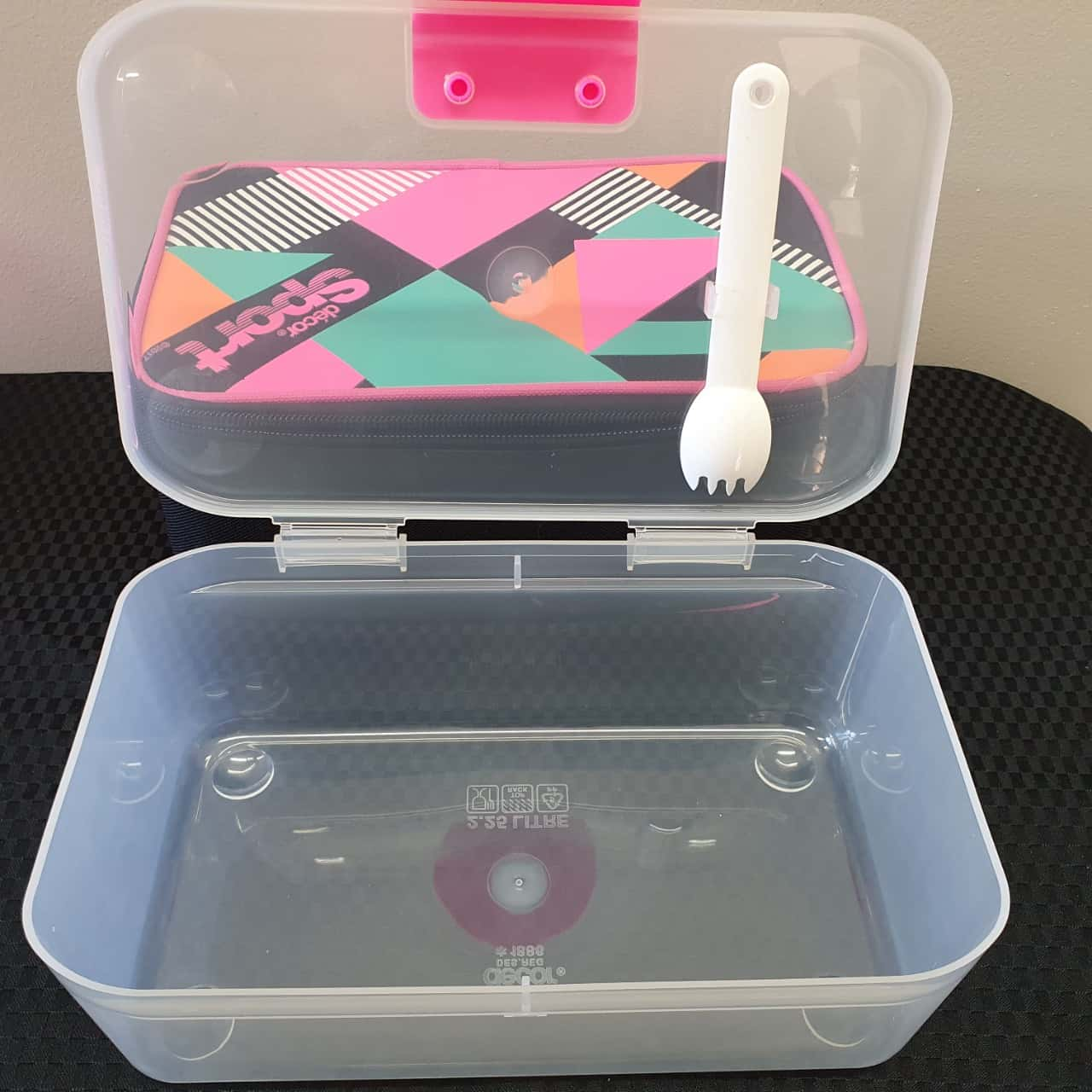 Decor Sport Lunch Box inc Ice Block Bottle Mini Containers and Fork