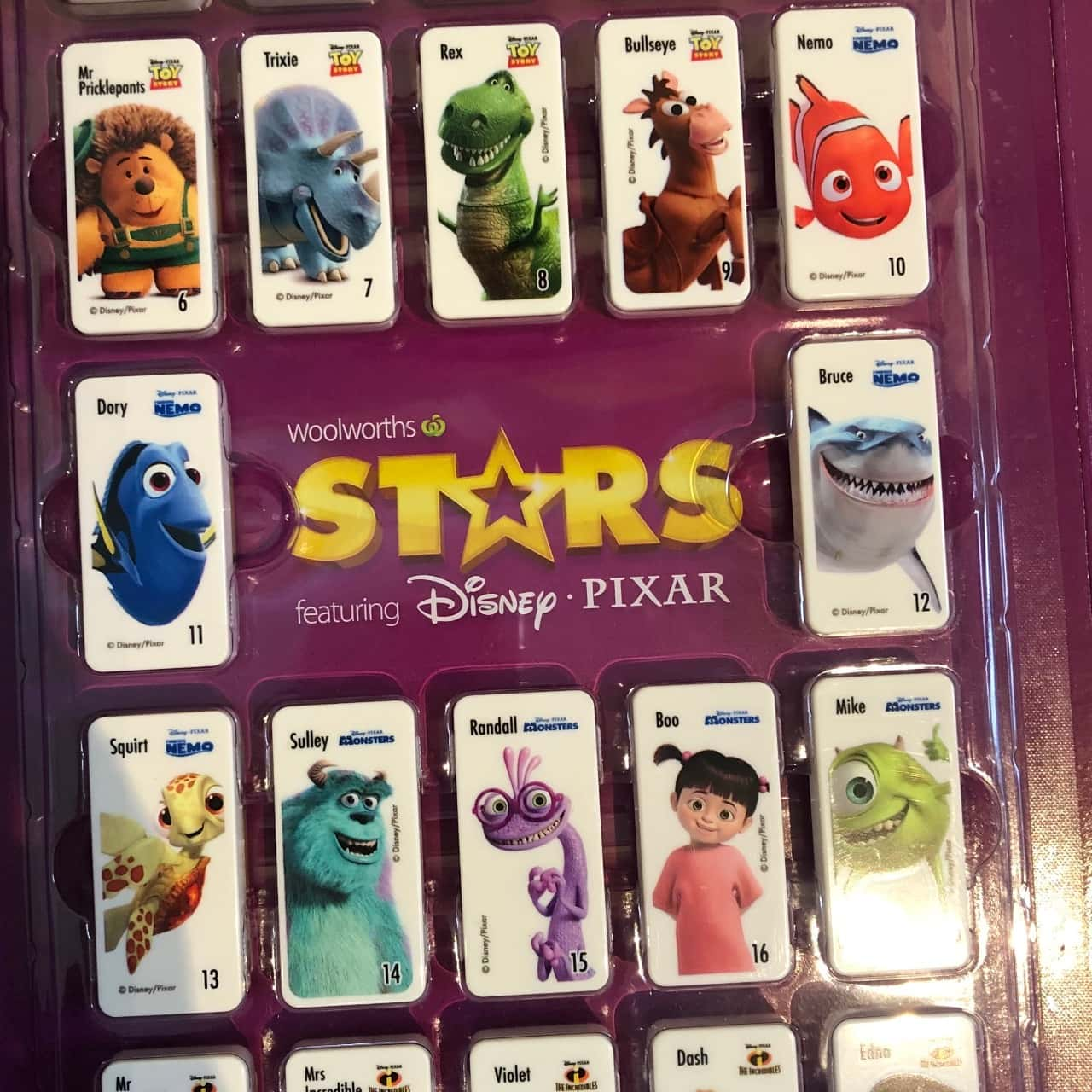Woolworths Disney Stars Official Dominos