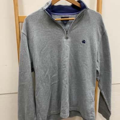 Brooks Brothers Mens  Size L Grey Jumper