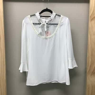 Review, Ivory top, Size 16, NWT, RRP $139.99