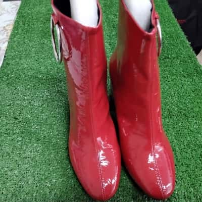 Womens  Size 10 Red Boots