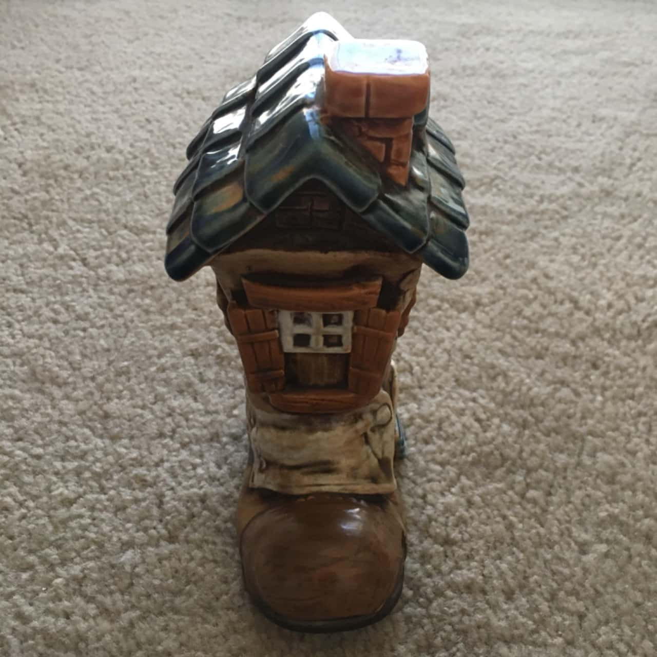 Shoe House Coin Bank Figurine, Made in Japan