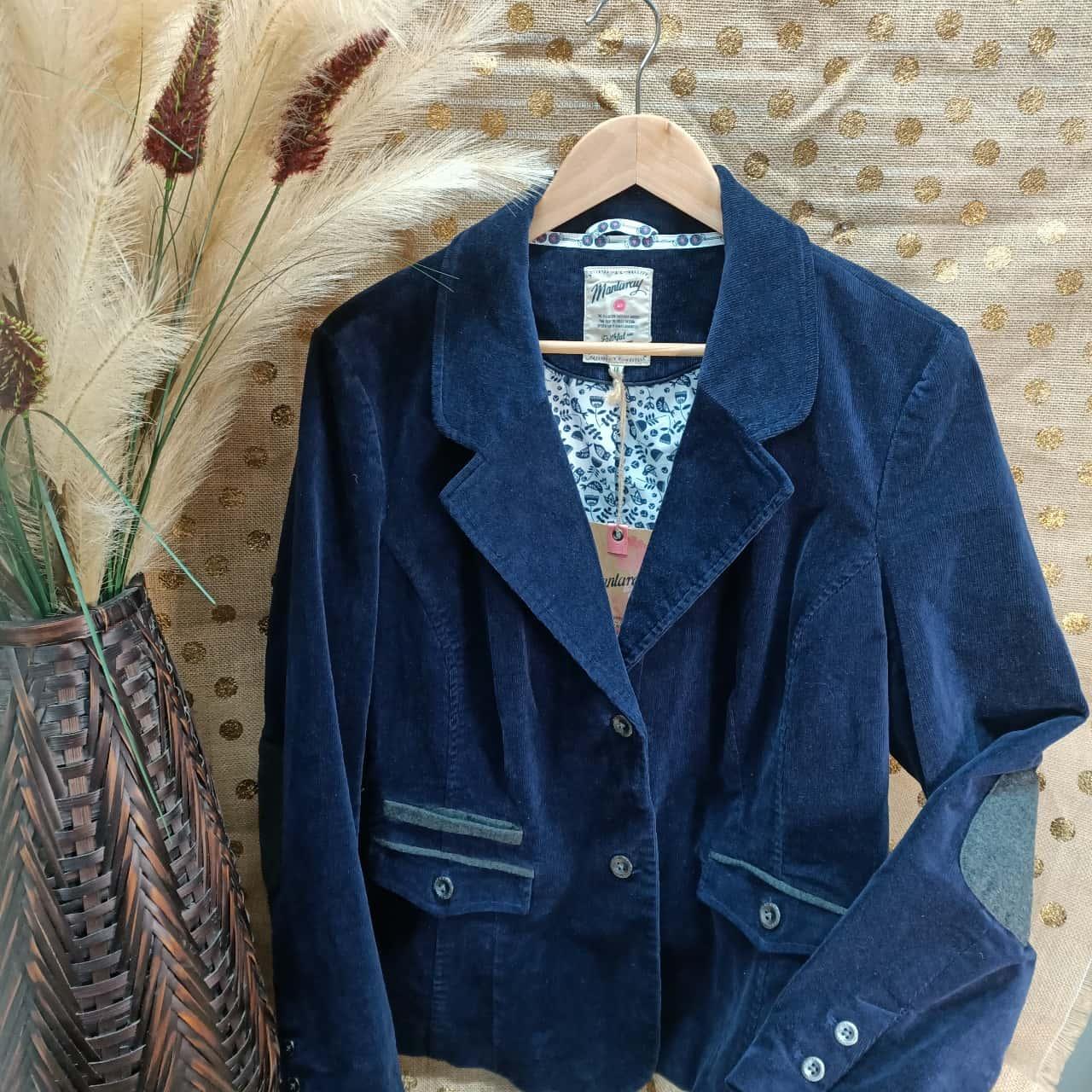 Mantaray Womens  Size 18 Blazers Grey/Navy Blue