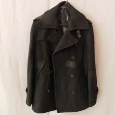 Brave- Wayne Cooper Mens Black Buttoned Coat Size S NWT RRP $250
