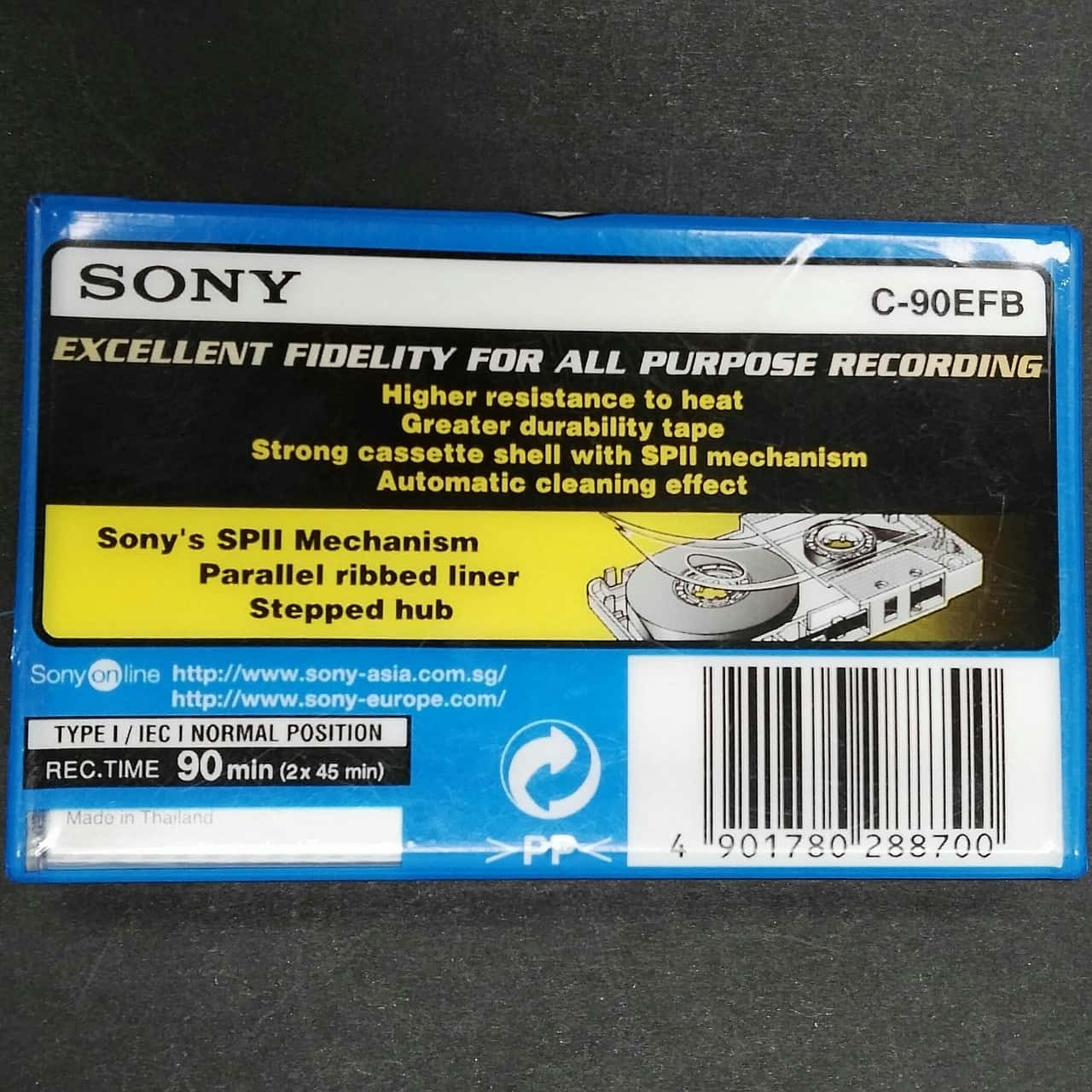 Sony EF90 Music Cassette EF90 Blank. New Sealed