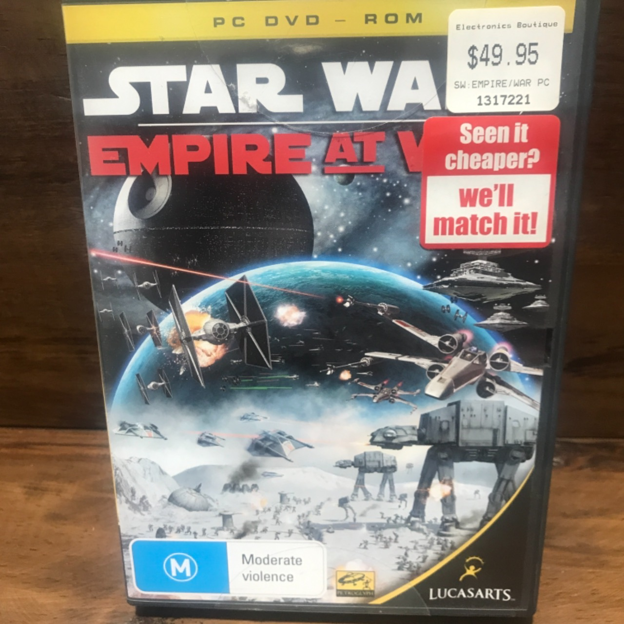 Star Wars Empire At War PC DVD - Rom Game