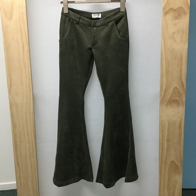 Oneteaspoon, Green faux suede flares, Size XS, NWT, RRP $149.
