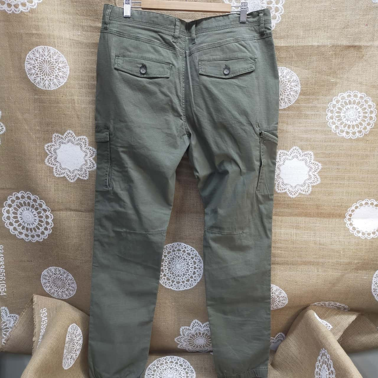 Jeanswest Mens Size 34 Cargo Pants Green