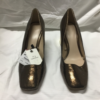 Zara, Bronze and gold heels, size 40, NWT, RRP $119