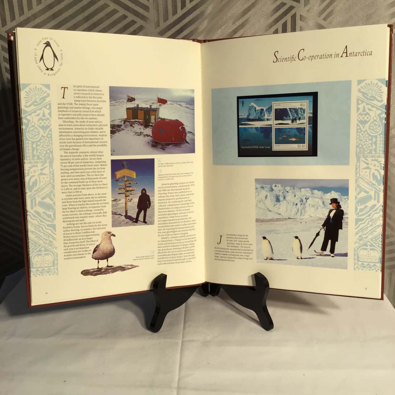 The Collection Of 1990 Australian Stamps Book