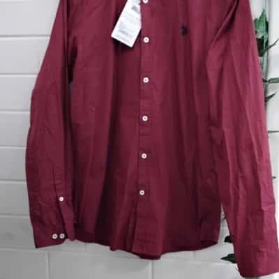 Polo Ralph Lauren Mens  Size M Long Sleeve Maroon Shirt