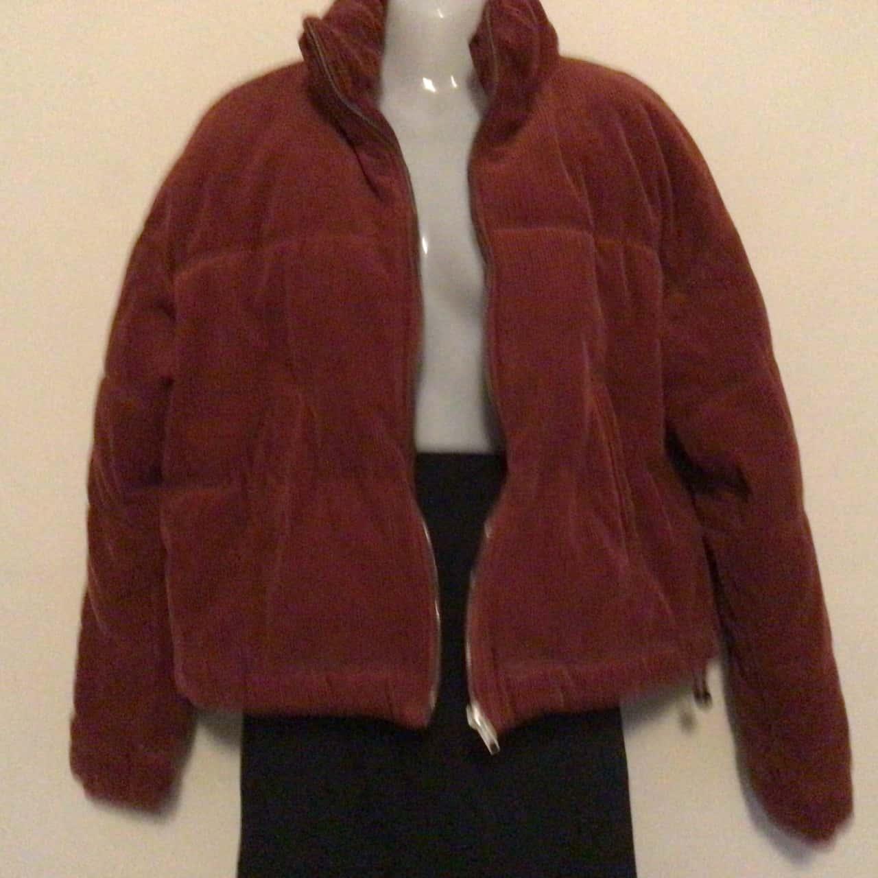 Womens Sportsgirl Thick Warm Corduroy Bomber Jacket Maroon Size 8