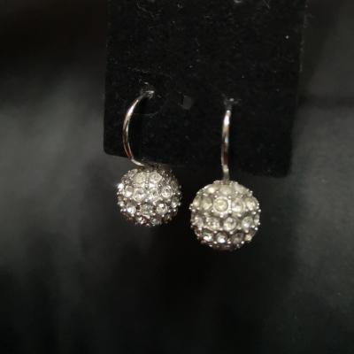 Round Womens Crystal Earrings