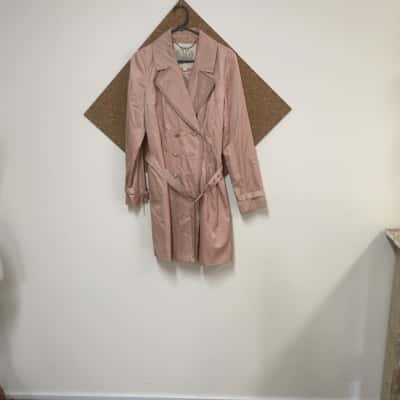 Womens Trench Coat Pink