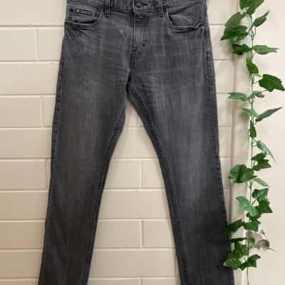 Nike Mens Jeans Size 30 Black/Grey