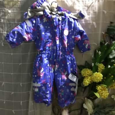 Kids Infant XTM Performance Unicorn Print Ski Suit  Size 0 Select Baby Types