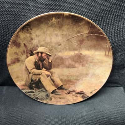 """Fine China Plate by Westminster Australia """"Down On His Luck"""" by Frederick McCubbin Limited Edition no. A 047"""