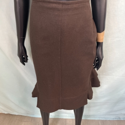Laura Ashley Womens  Skirts Size 12 Midi Brown
