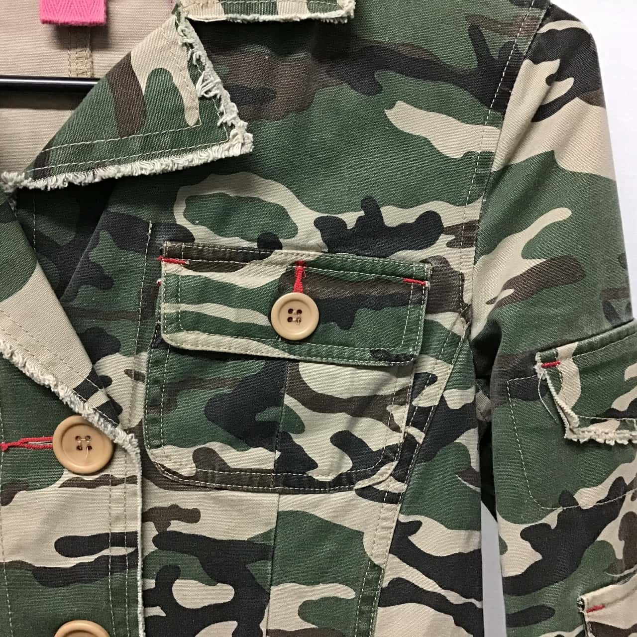 Hipster, Camo print jacket, Size 10