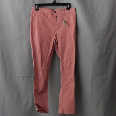 Asos Men's Dusky Pink Skinny Leg Pants with Button Fly and Side Pockets Size 28 NWT