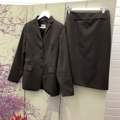 Jigsaw Womens Brown Skirt Suit