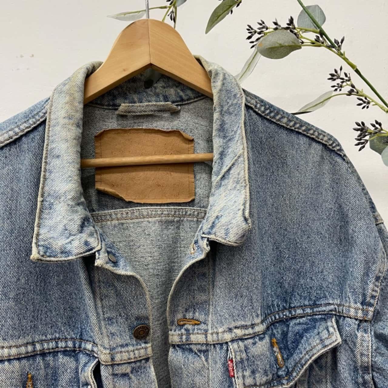 Vintage Levis Mens  Size XL Denim Jacket Blue