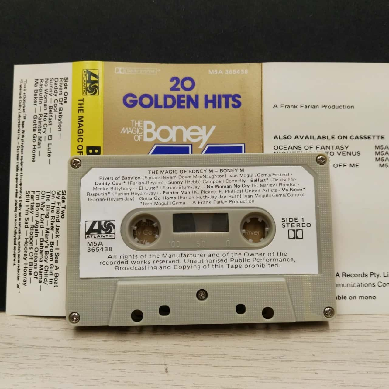 Music Cassette - The Magic of Boney M - 20 Golden Hits