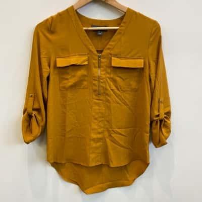 Primark Womens Mustard Yellow Blouse Size 6