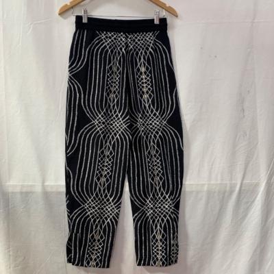 SASS & BIDE Womens  Size 6/XS/S  Relaxed print pant Black /Gold/White