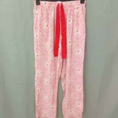 Clothing & Co Ladies Pink Design Pyjama Pants Size 6-8