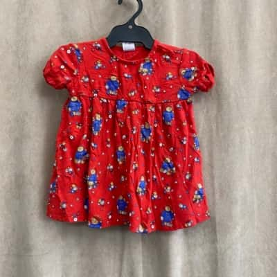 Paddington Bear Kids Size 6-9Month Dress
