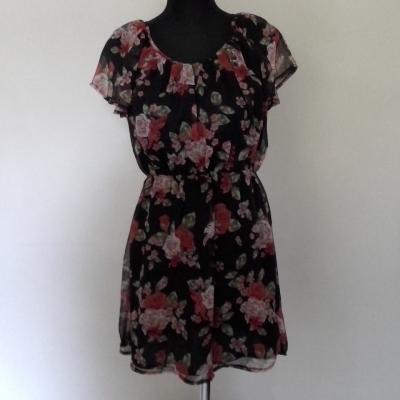 Womens TOKITO PRETTY SUMMER  FLORAL DRESS Size 10 Cocktail Dress/Mini Dress/Party Dress Black /Floral