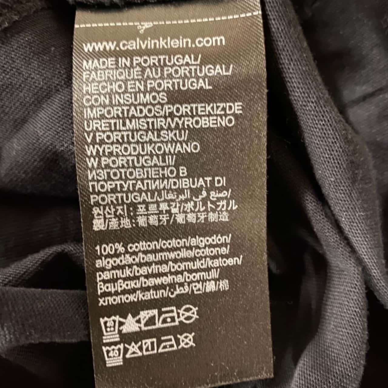 Calvin Klein Jeans Mens  T-Shirt Size L Black