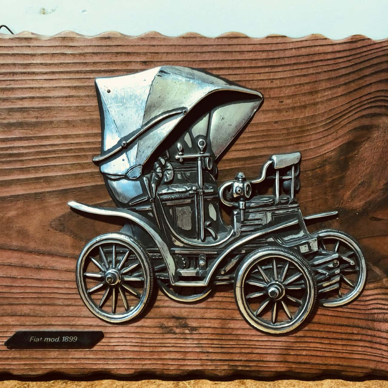 'REDUCED' Wooden Car Picture (Fiat Mod. 1899)