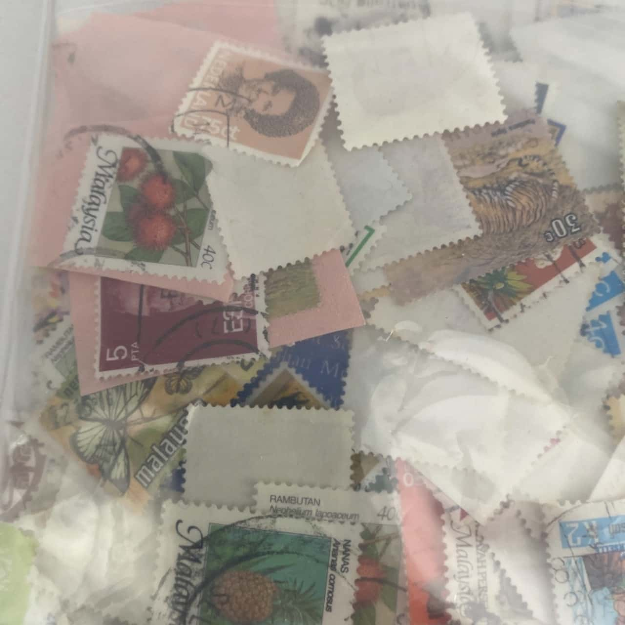 Random stamp collection