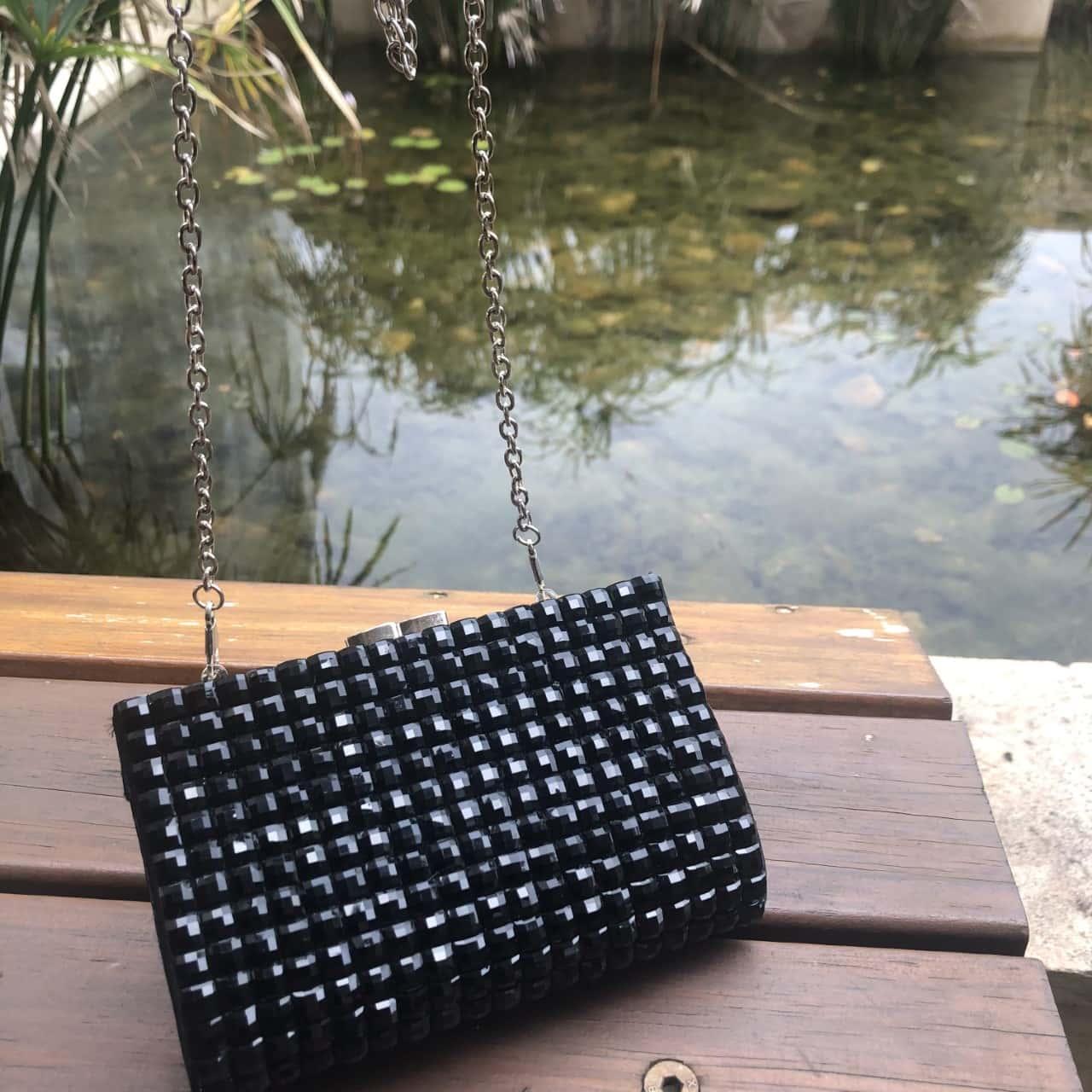 Kookai Black Sparkle Clutch