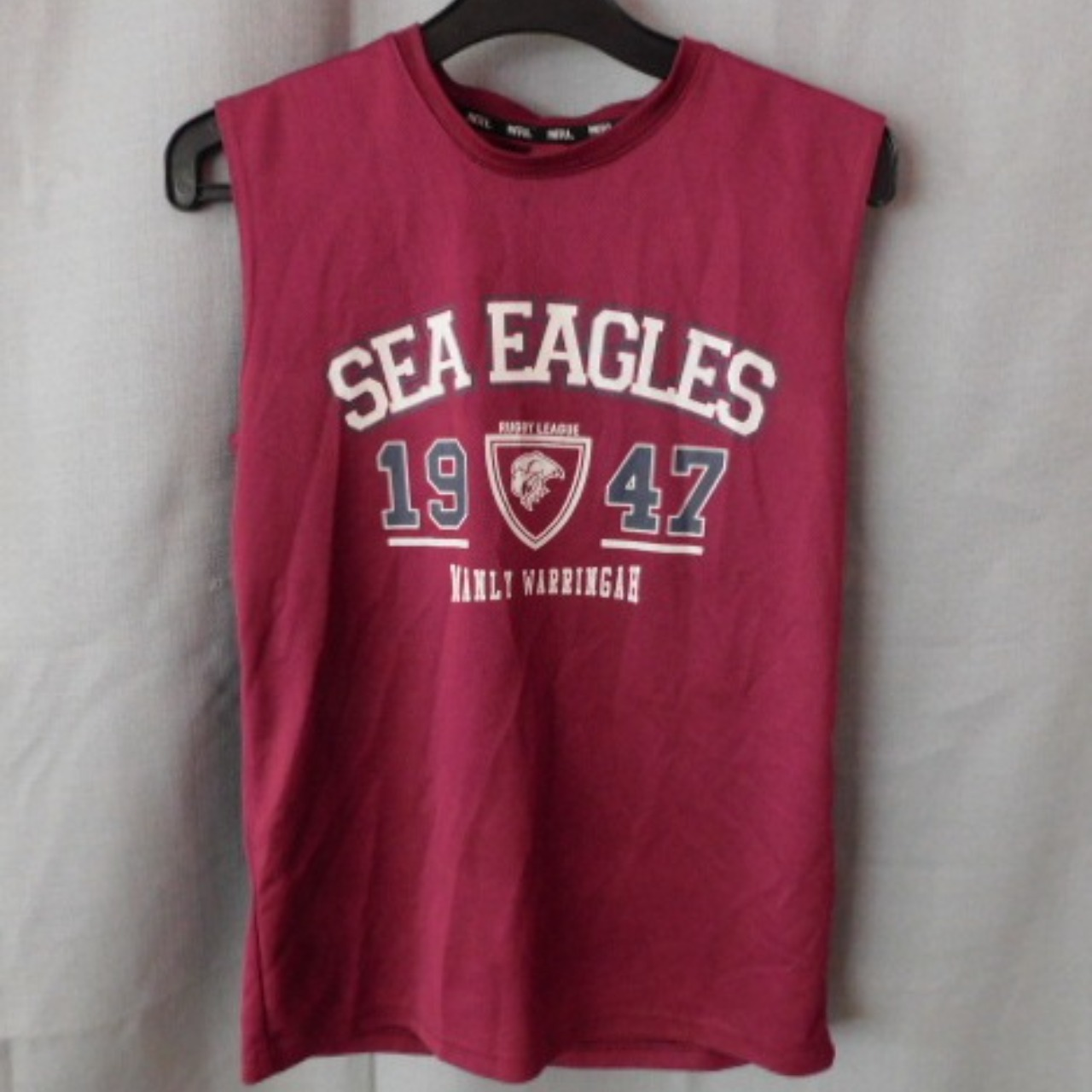 ****EOFYS**** NRL Official Supporters Youths Sea Eagles Sleeveless T-shirt Size S