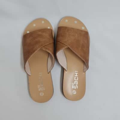Girl's Size 13 Tan Leather Lining and Sick Sandals