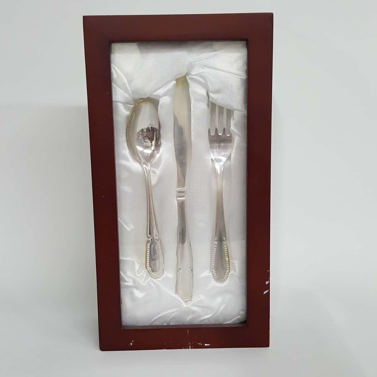 Kids Cutlery Set- Silver Plate